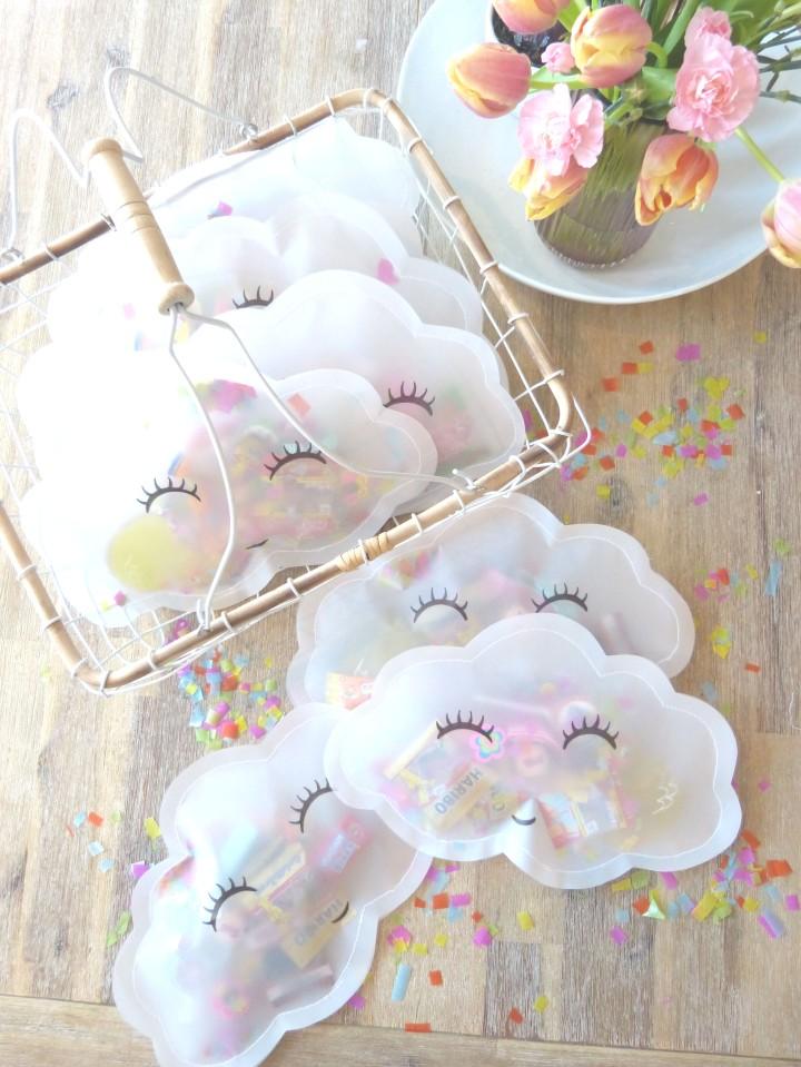 Süßer Wolkenbruch am  Kindergeburtstag – kleine DIY-Giveaways mit ordentlichKonfettiregen