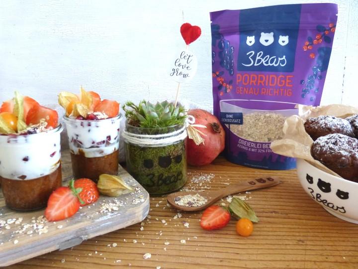 Werbung / Die gesunde Valentinstagsüberraschung – mit dem Porridge von3bears